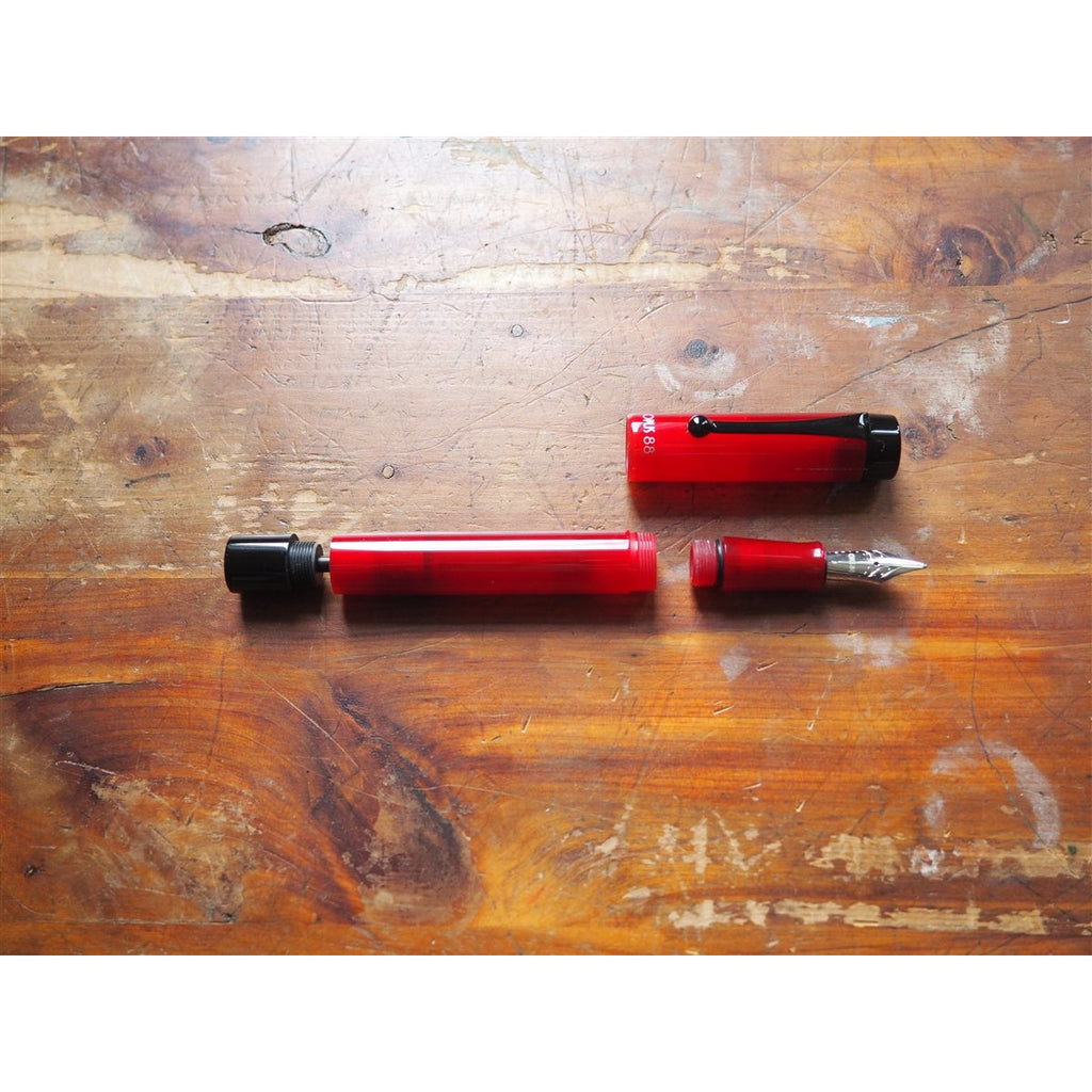 <center>Opus 88 KOLORO Fountain Pen - Red Demonstrator </center>