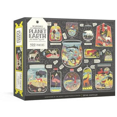<center>The Wonderous Workings of Planet Earth Puzzle by Rachel Ignotofsky  - 500 Piece Puzzle</center>