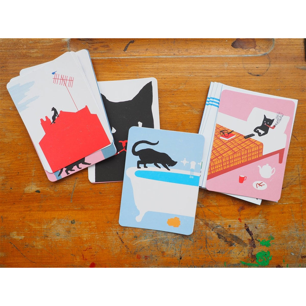 <center>Le Chat Noir - 20 Correspondence Cards & Envelopes</center>