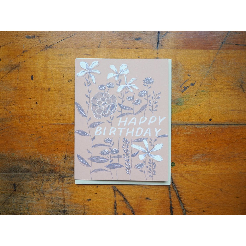 <center>Small Adventure Birthday Card - Growing Flowers</center>