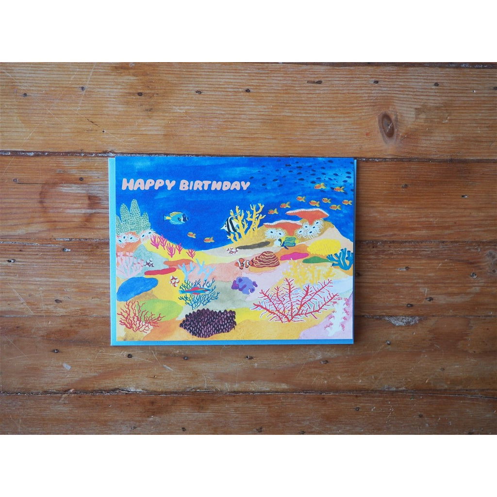 <center>Small Adventure Birthday Card - Coral Reef</center>