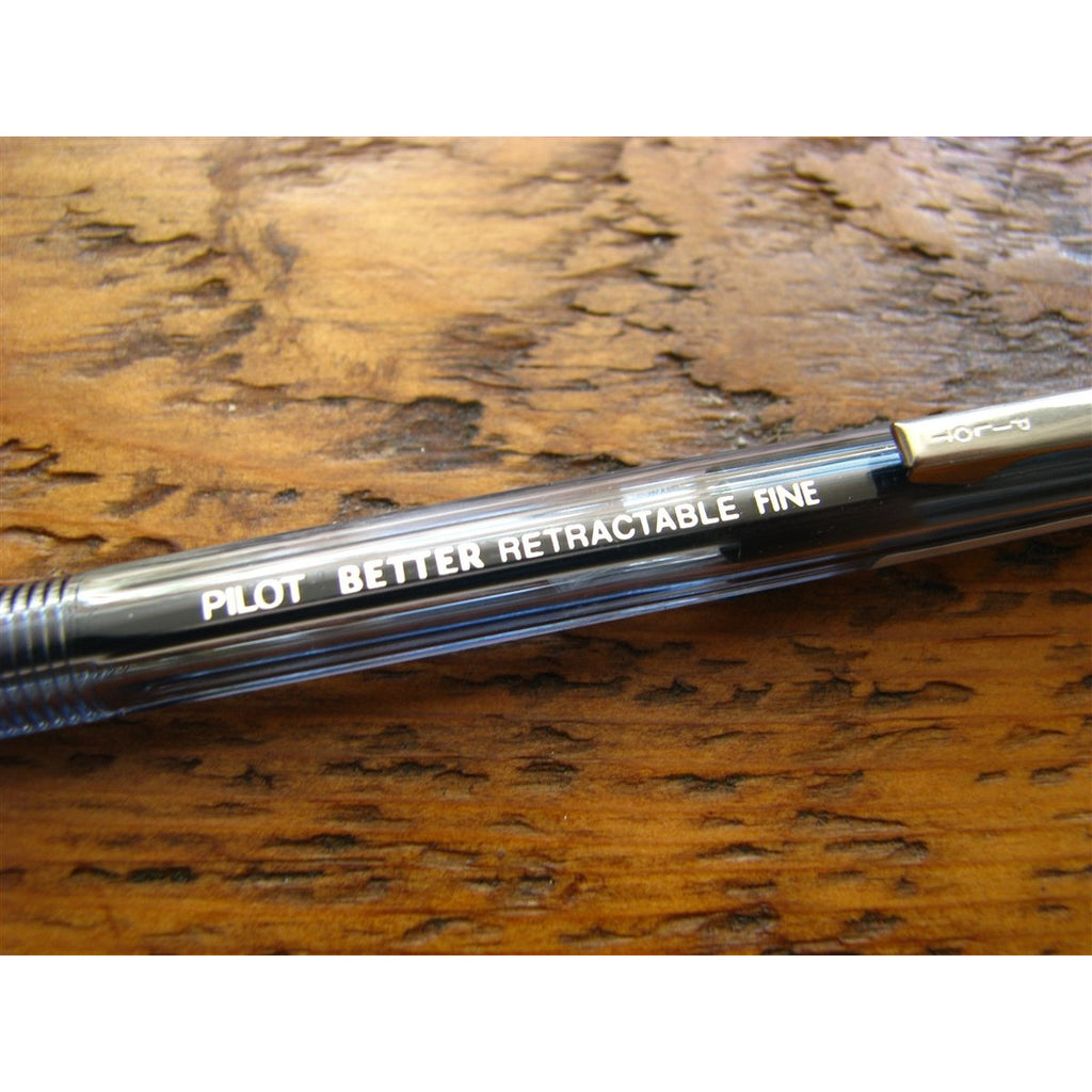 <center>Pilot Better Retractable Ballpoint Pen - Black</center>