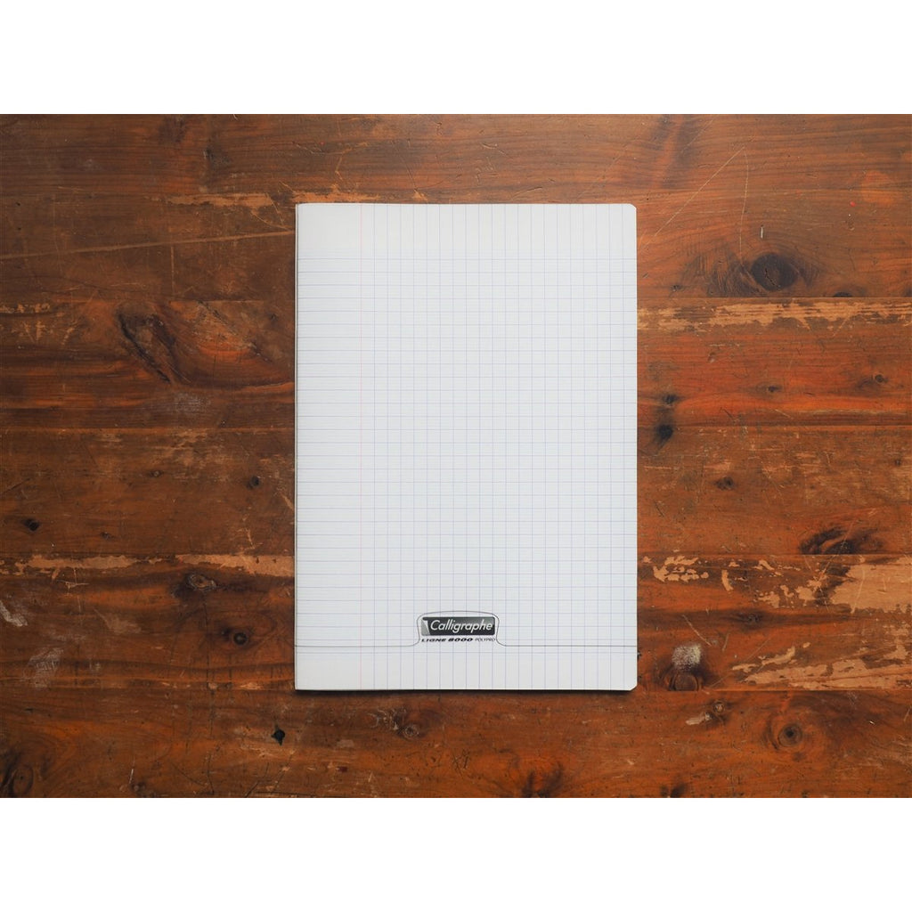 <center>Clairefontaine Staplebound Notebook (21 x 29.7cm) - Seyes French Ruled - Transparent</center>