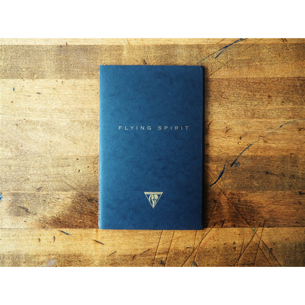 <center>Clairefontaine Flying Spirit Stitchbound Notebook (11 x 17cm) Black - Lined</center>