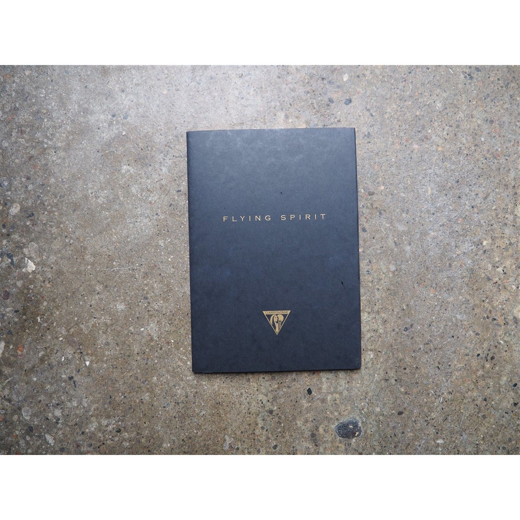 <center>Clairefontaine Flying Spirit Stitchbound Notebook Black A5 - Lined</center>