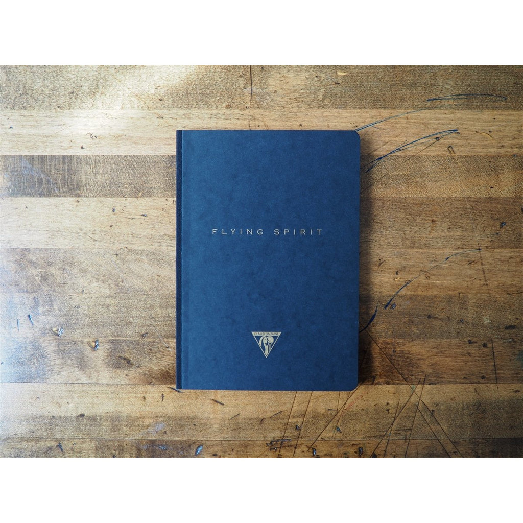 <center>Clairefontaine Flying Spirit Clothbound Notebook Black A5 - Lined</center>