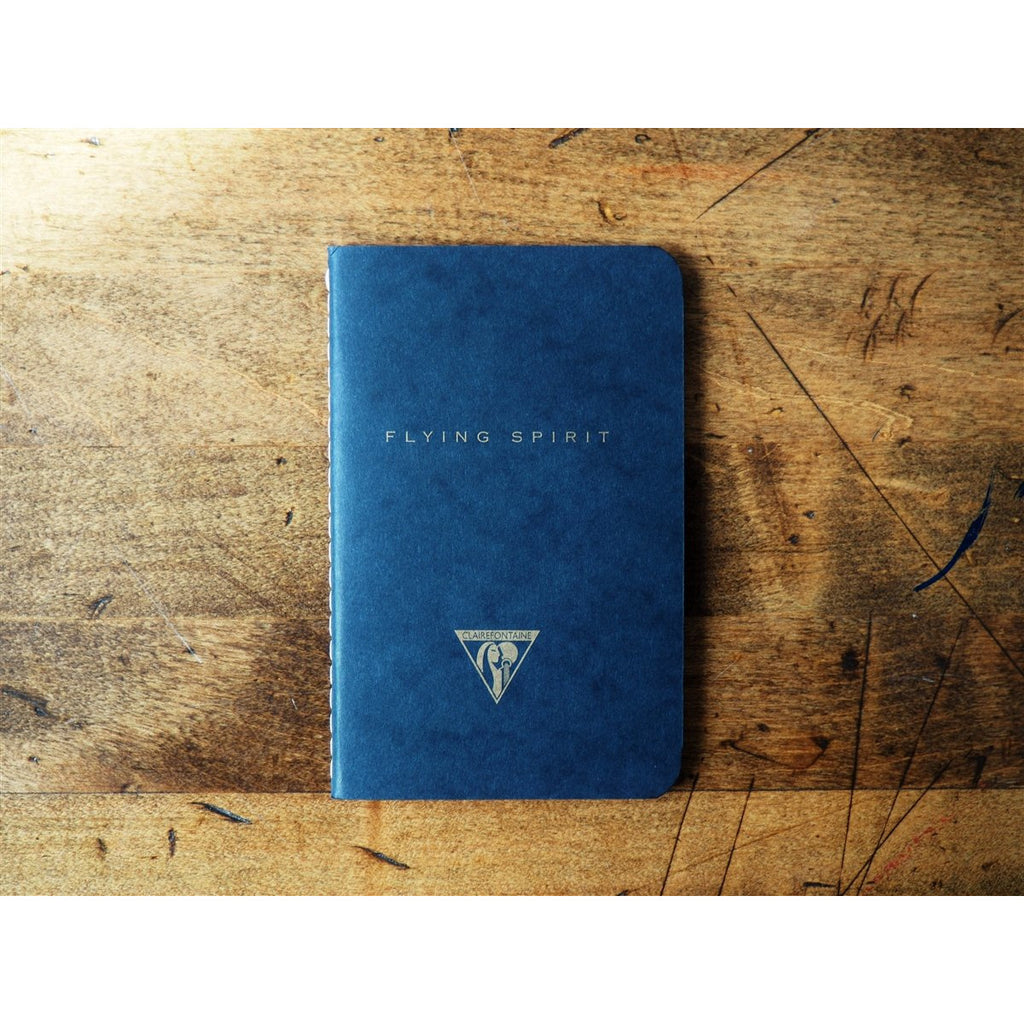 <center>Clairefontaine Flying Spirit Stitchbound Pocket Notebook (7.5 x 12cm) Black  - Lined</center>