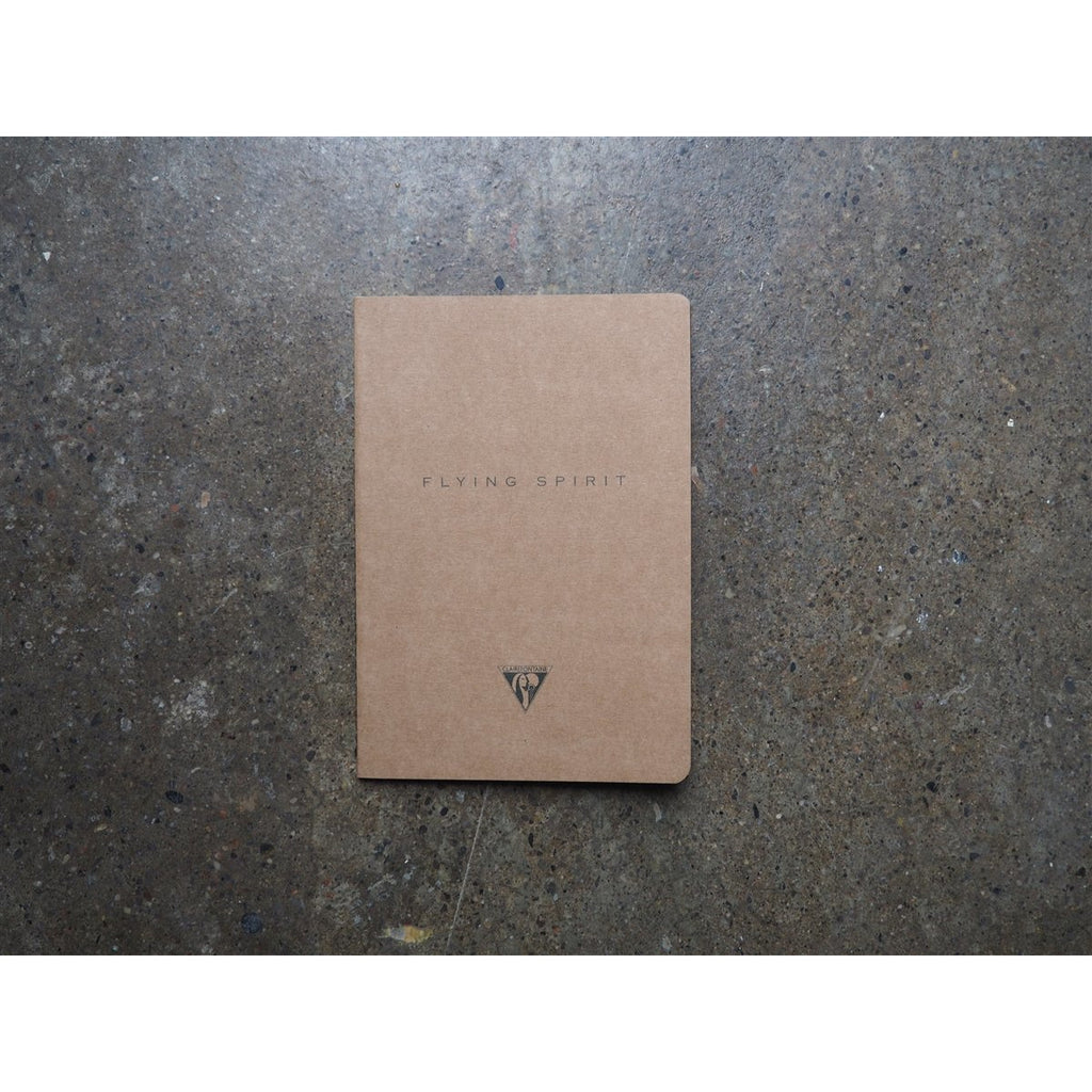 <center>Clairefontaine Flying Spirit Stitchbound Notebook Tan A5 - Lined</center>