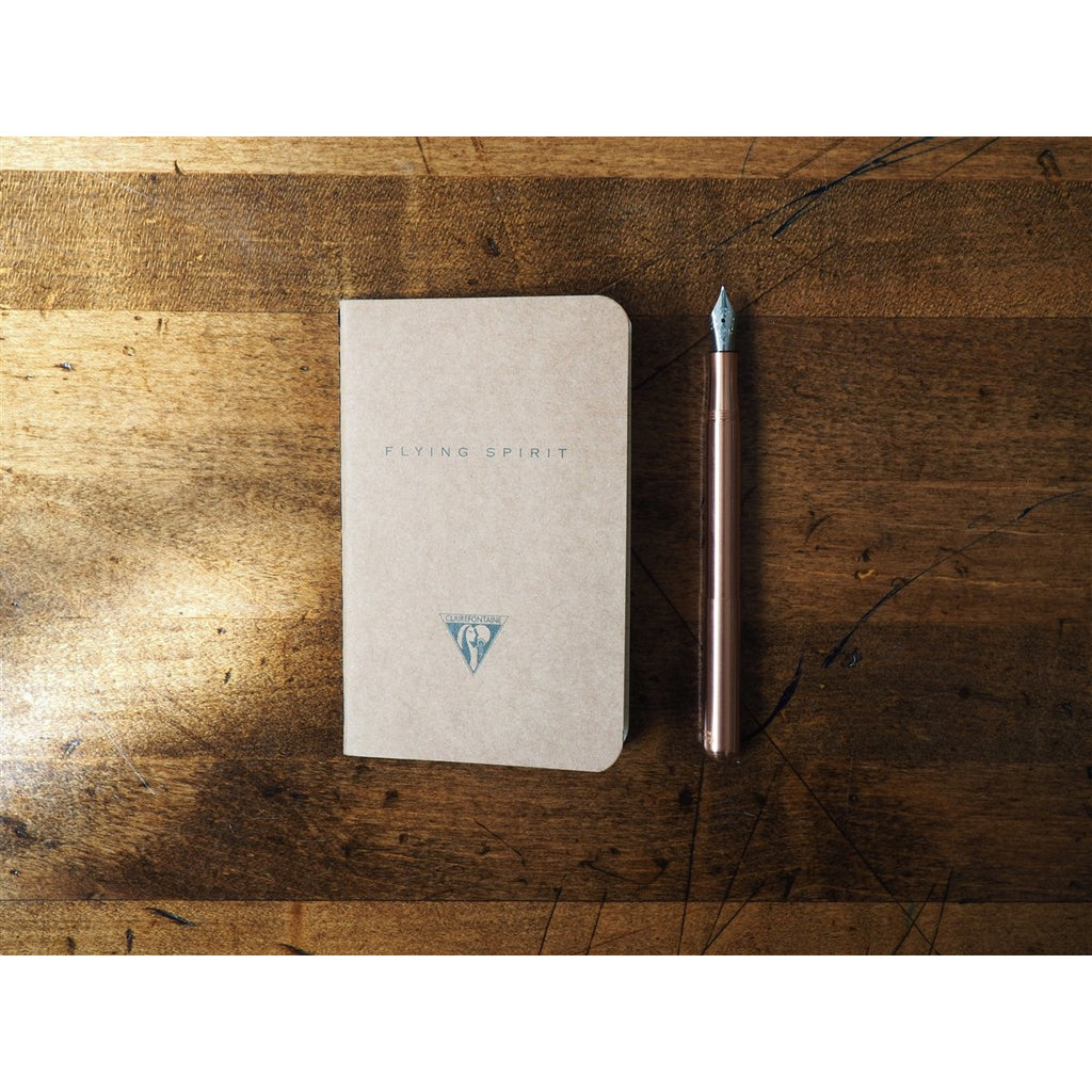 <center>Clairefontaine Flying Spirit Stitchbound Pocket Notebook (7.5 x 12cm) Tan  - Lined</center>