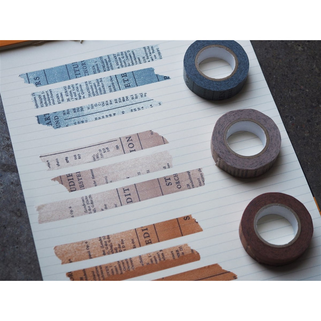 <center>Classiky x Yoko Inoue Washi Tape - Old Book Blue</center>