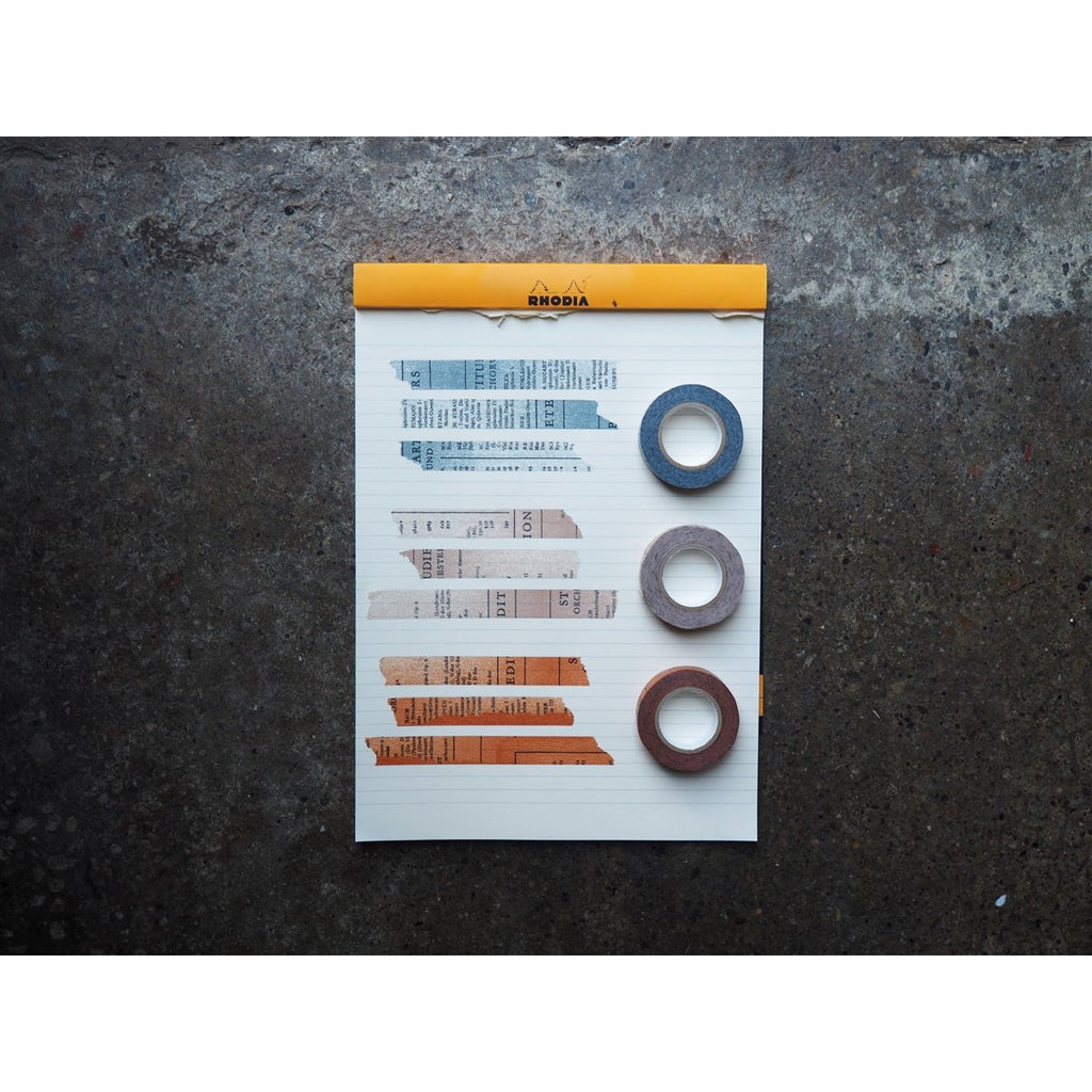 <center>Classiky x Yoko Inoue Washi Tape - Old Book Gray</center>