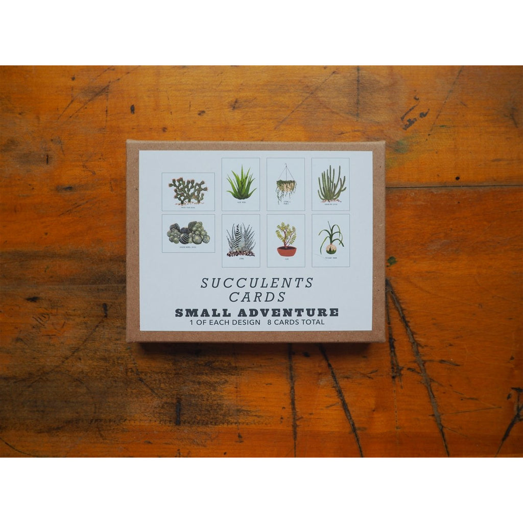 <center>Small Adventure 8 Card Set - Succulents</center>