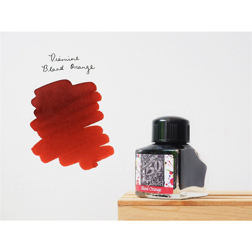 <center>Diamine 150th Anniversary ink: Blood Orange (40 mL)</center>