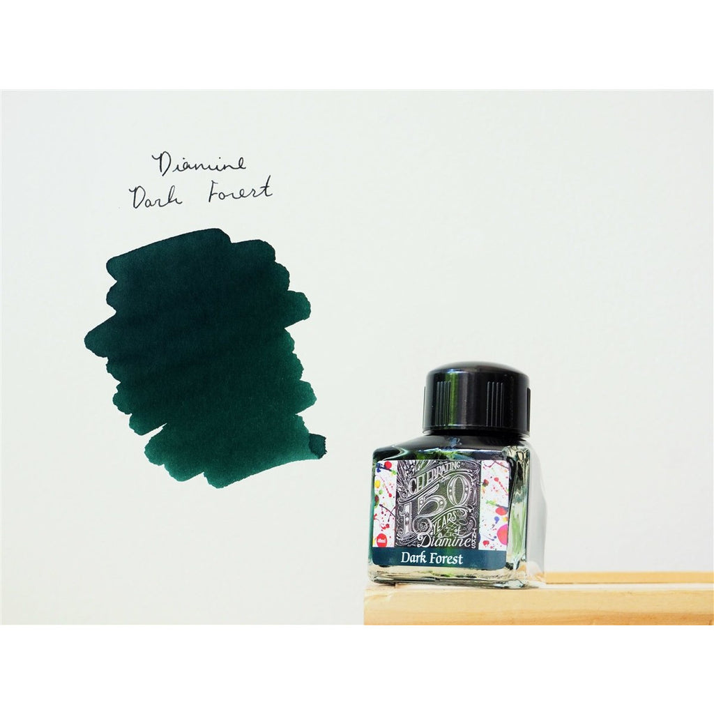 <center>Diamine 150th Anniversary ink: Dark Forest (40 mL)</center>