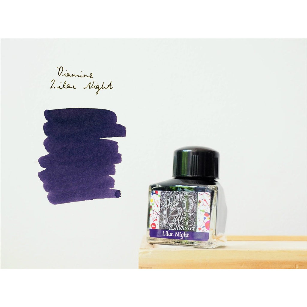 <center>Diamine 150th Anniversary ink: Lilac Night (40 mL)</center>