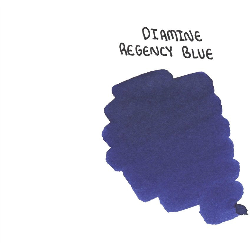 <center>Diamine 150th Anniversary ink: Regency Blue (40 mL)</center>