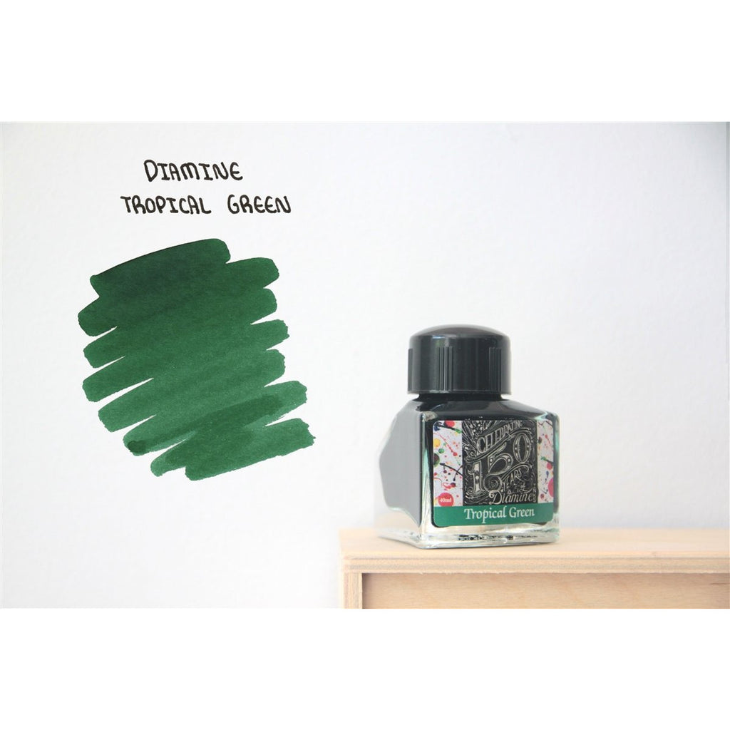 <center>Diamine 150th Anniversary ink: Tropical Green (40 mL)</center>