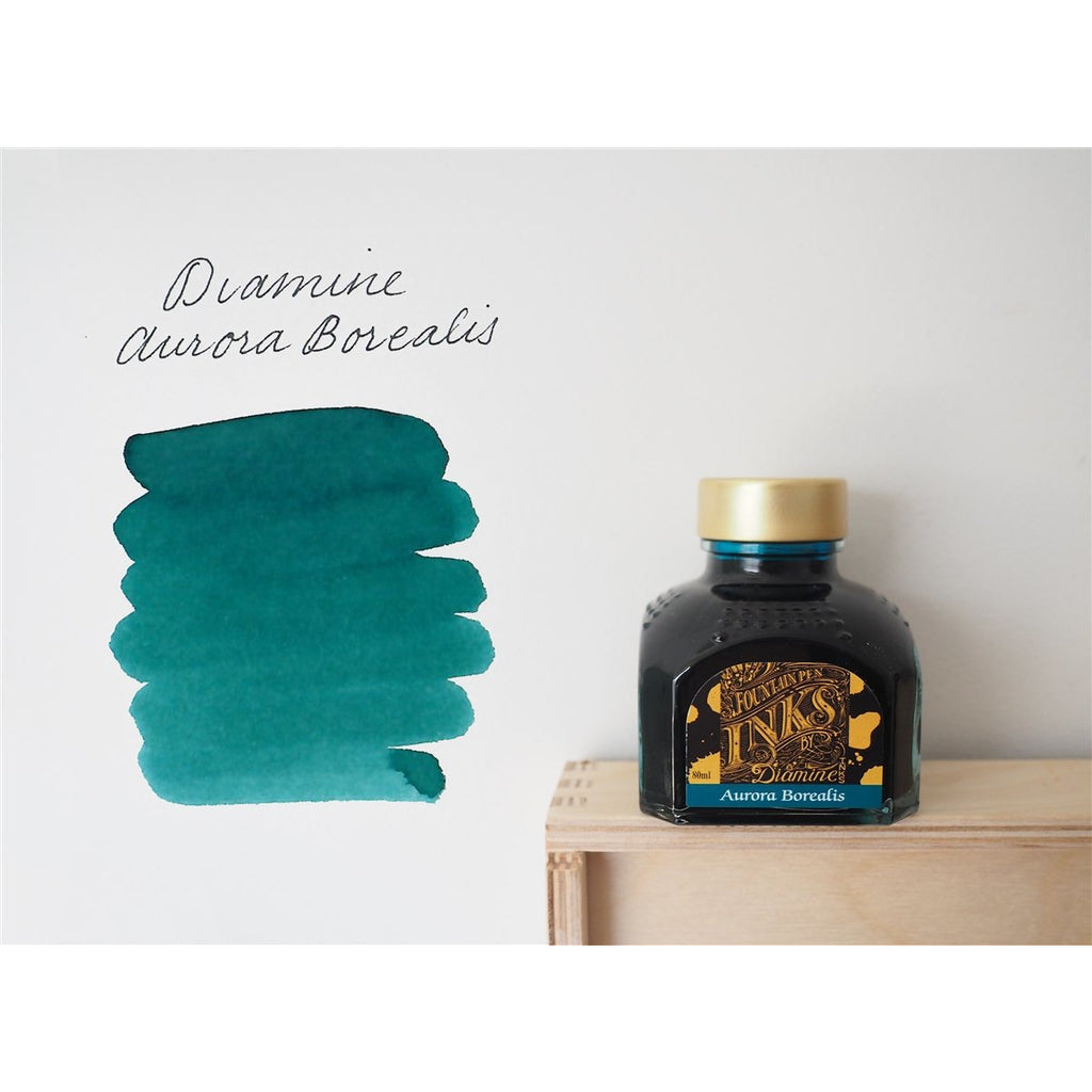 <center>Diamine Fountain Pen Ink (80mL) - Aurora Borealis </center>