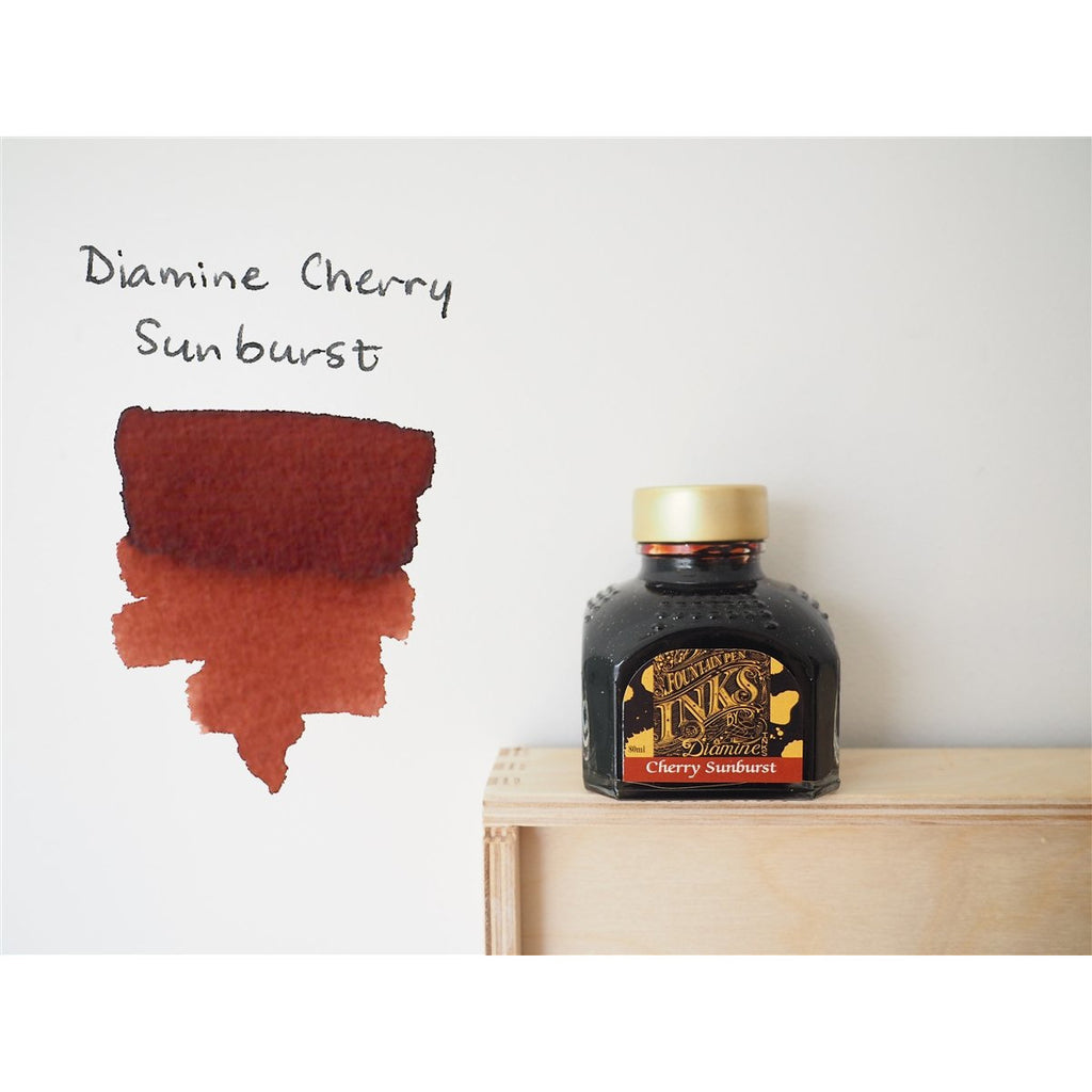 <center>Diamine Fountain Pen Ink (80mL) - Cherry Sunburst</center>