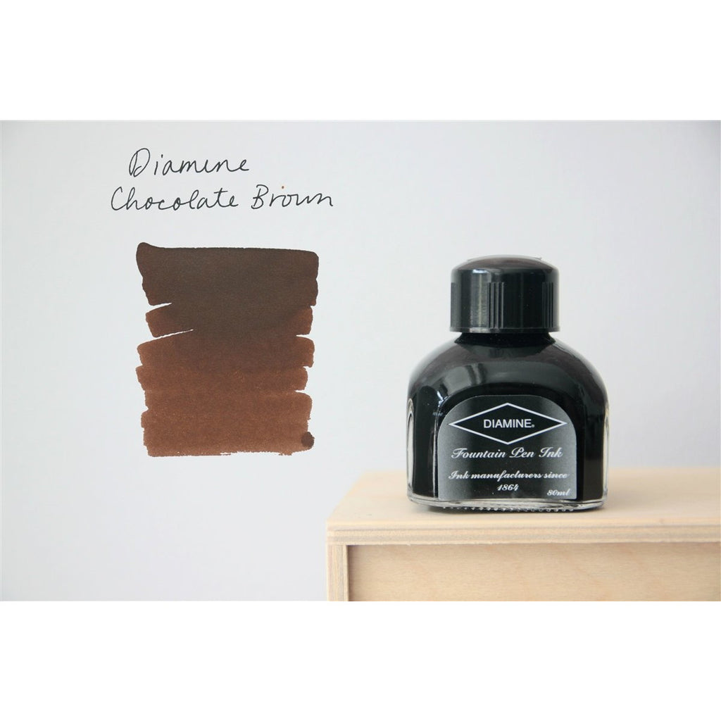 <center>Diamine Fountain Pen Ink (80mL) - Chocolate Brown </center>