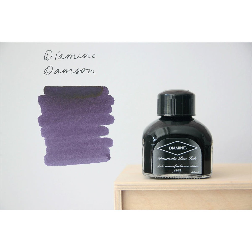 <center>Diamine Fountain Pen Ink (80mL) - Damson </center>