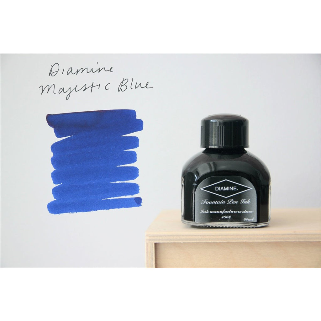 <center>Diamine Fountain Pen Ink (80mL) - Majestic Blue </center>