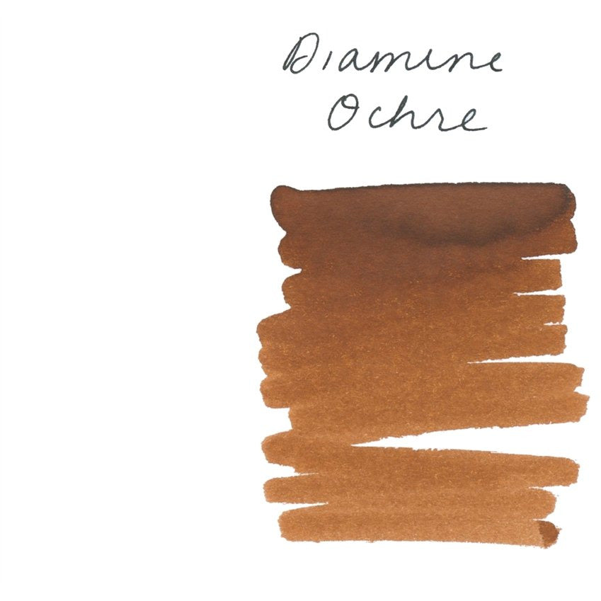 <center>Diamine Fountain Pen Ink (80mL) - Ochre </center>