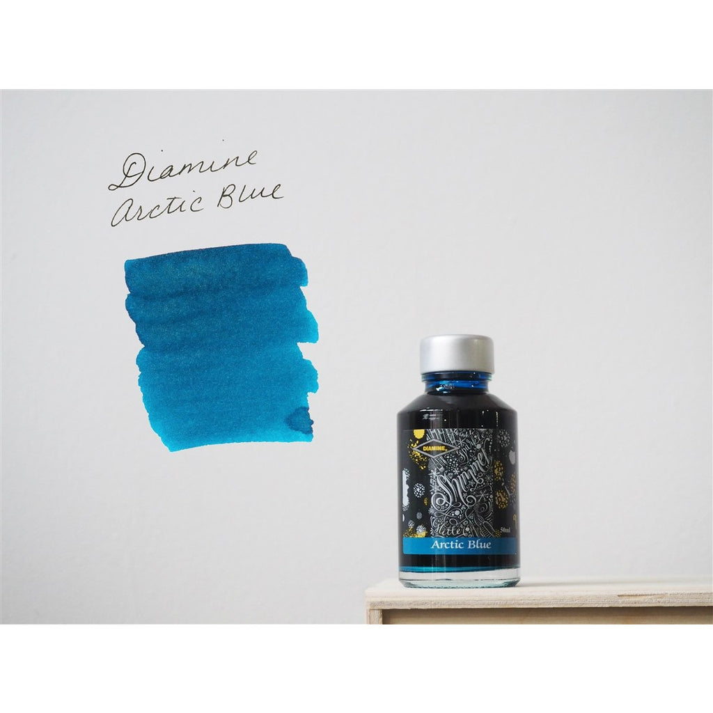 <center>Diamine Shimmertastic: Arctic Blue (50 mL)</center>