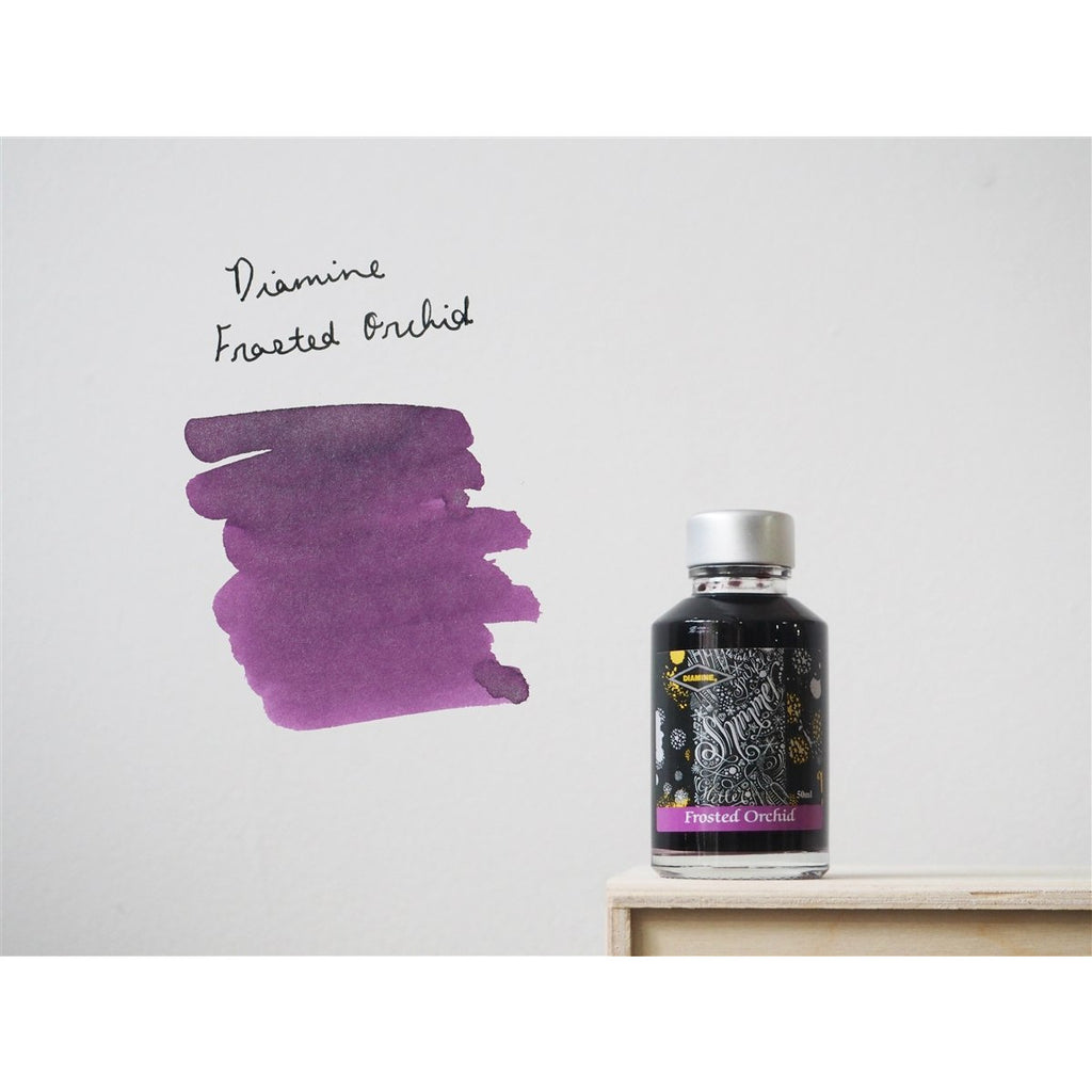 <center>Diamine Shimmertastic: Frosted Orchid (50 mL)</center>