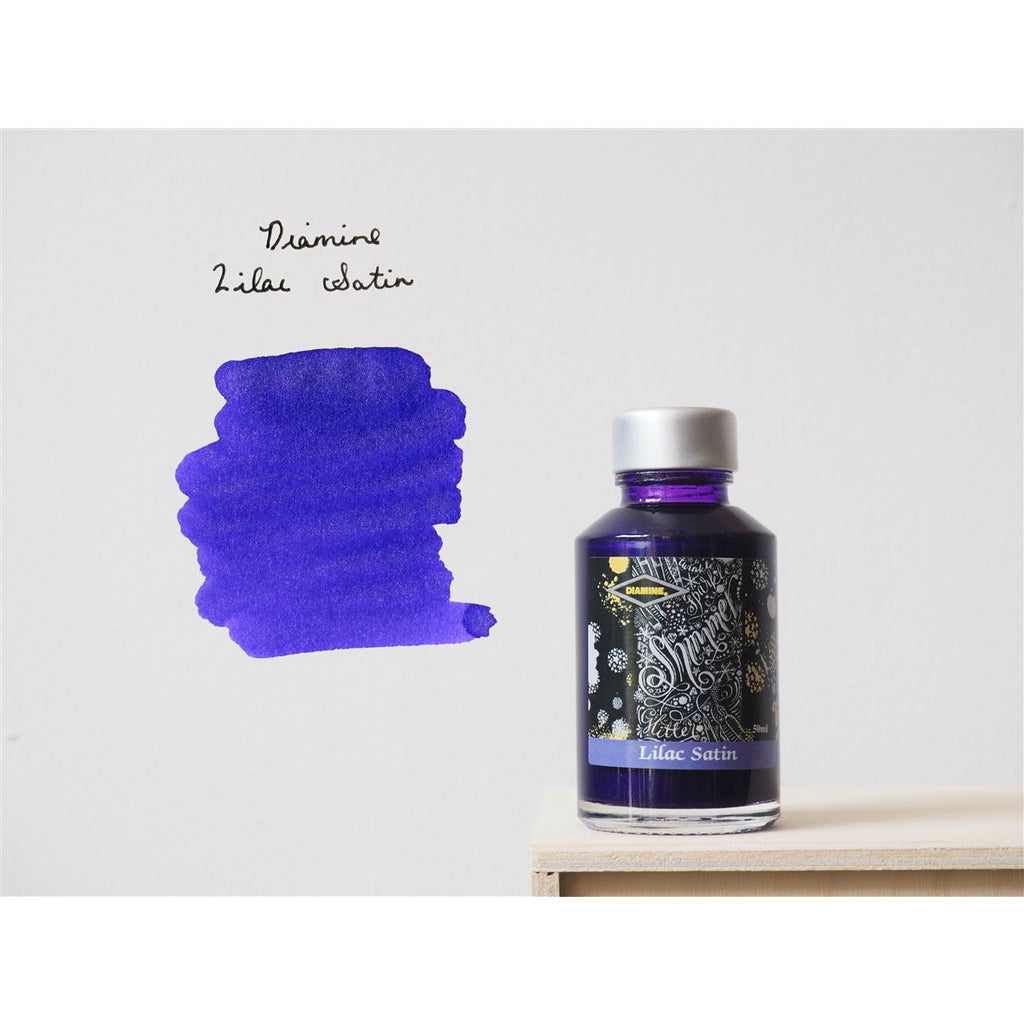 <center>Diamine Shimmertastic: Lilac Satin (50 mL)</center>