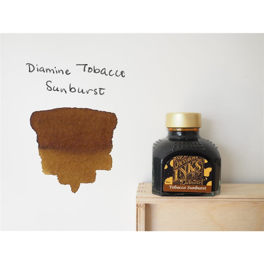 <center>Diamine Fountain Pen Ink (80mL) - Tobacco Sunburst</center>