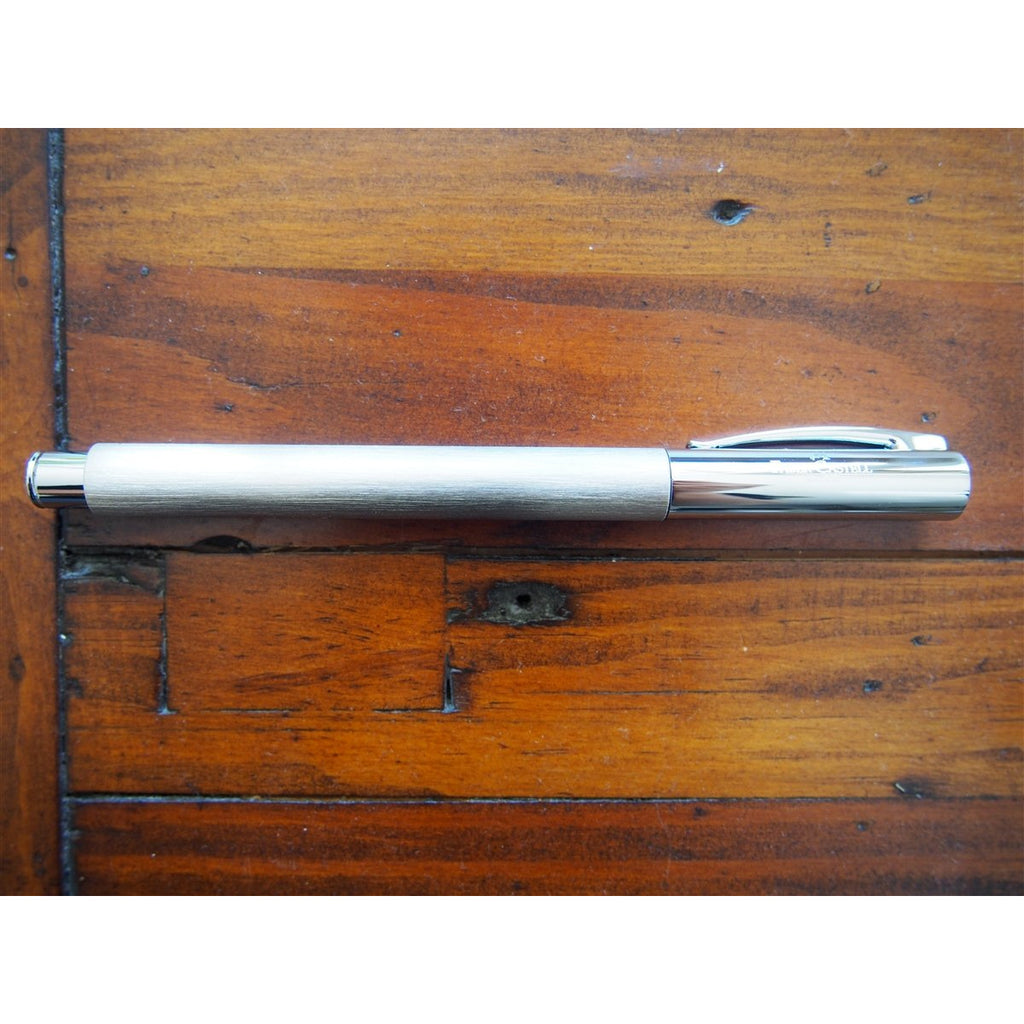 <center>Faber-Castell Ambition Fountain Pen - Stainless Steel</center>