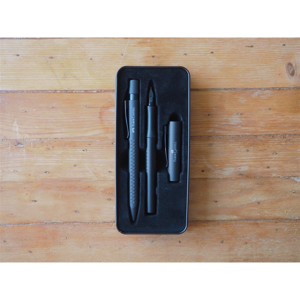 <center>Faber-Castell - Grip Edition Fountain Pen and Ballpoint Gift Set - Black</center>