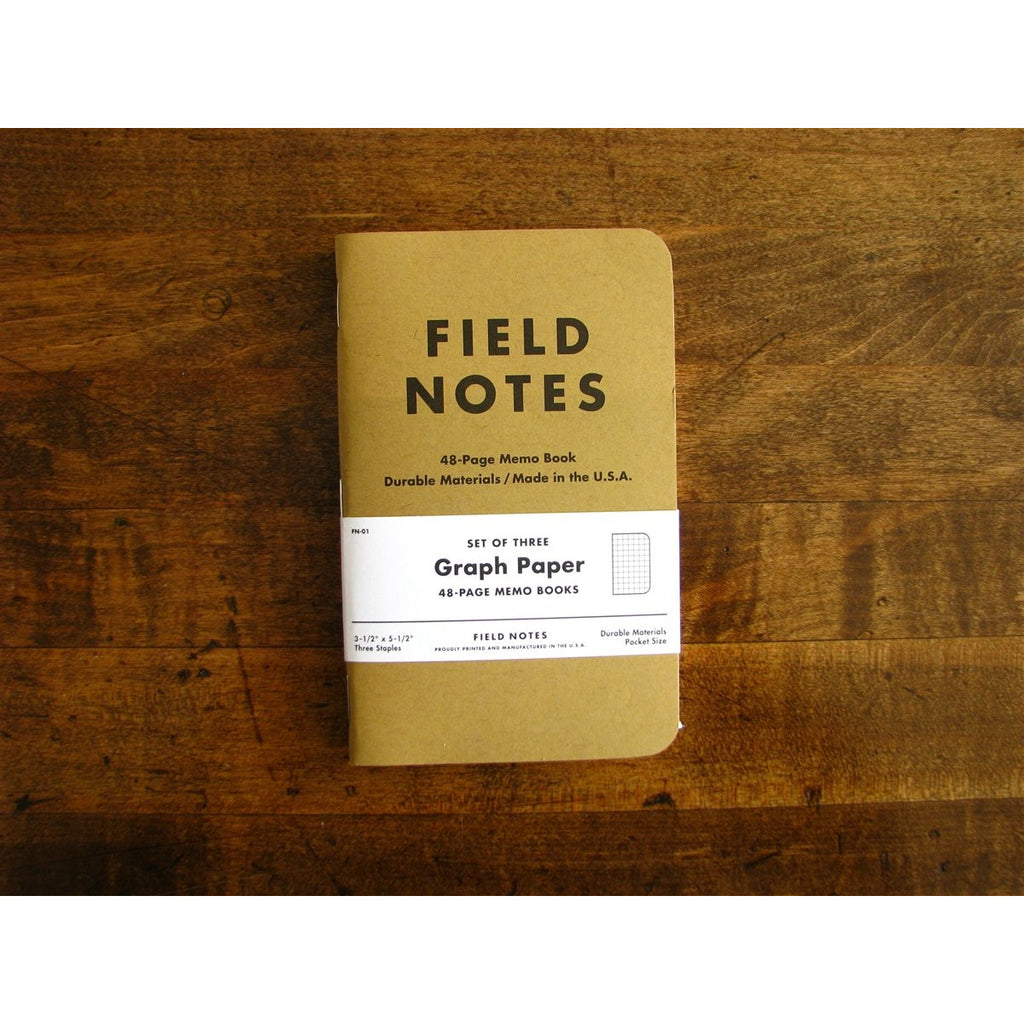 <center>Field Notes Memo Book Original 3-Pack - Grid</center>