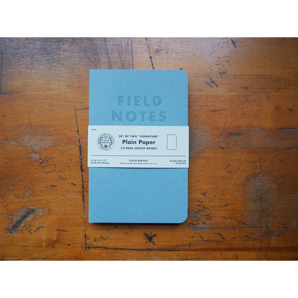 <center>Field Notes Signature Notebooks - Plain</center>