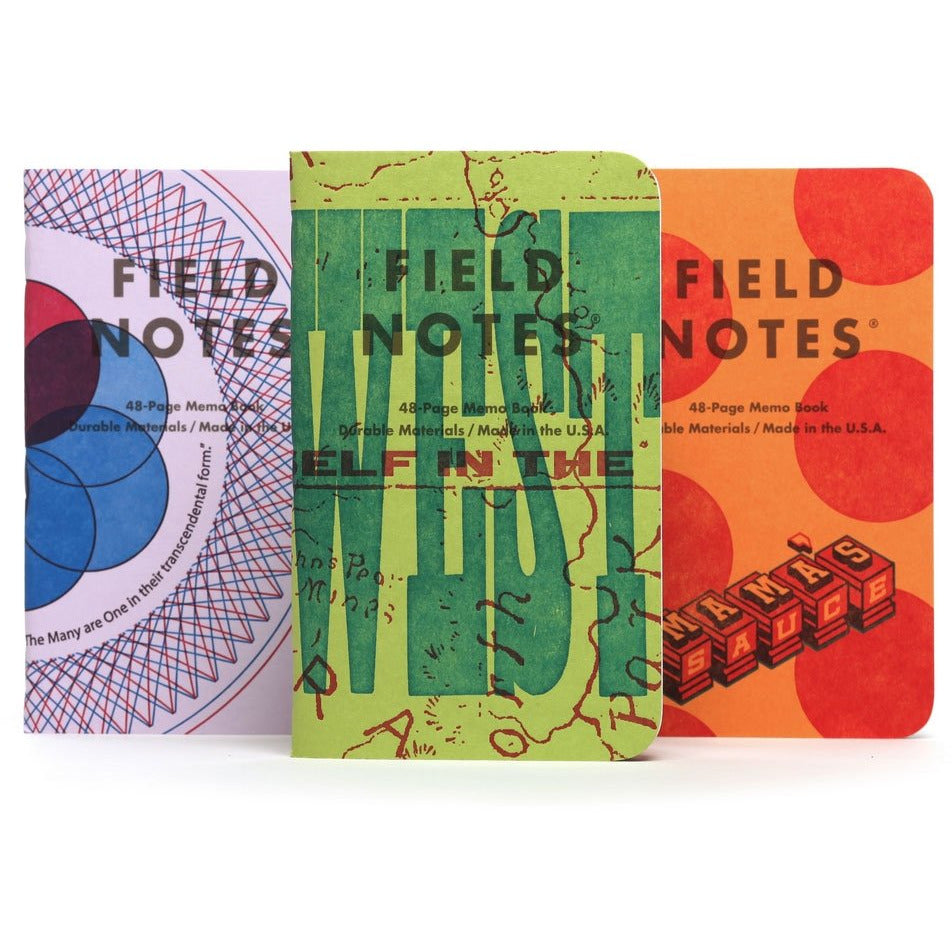 <center>Field Notes - 2020 Fall Limited Edition - United States of Letterpress - Series A</center>