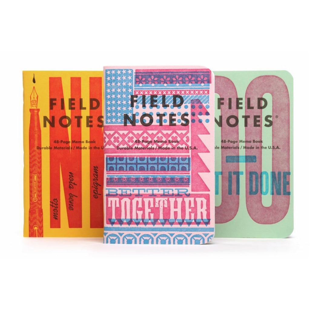 <center>Field Notes - 2020 Fall Limited Edition - United States of Letterpress - Series B</center>