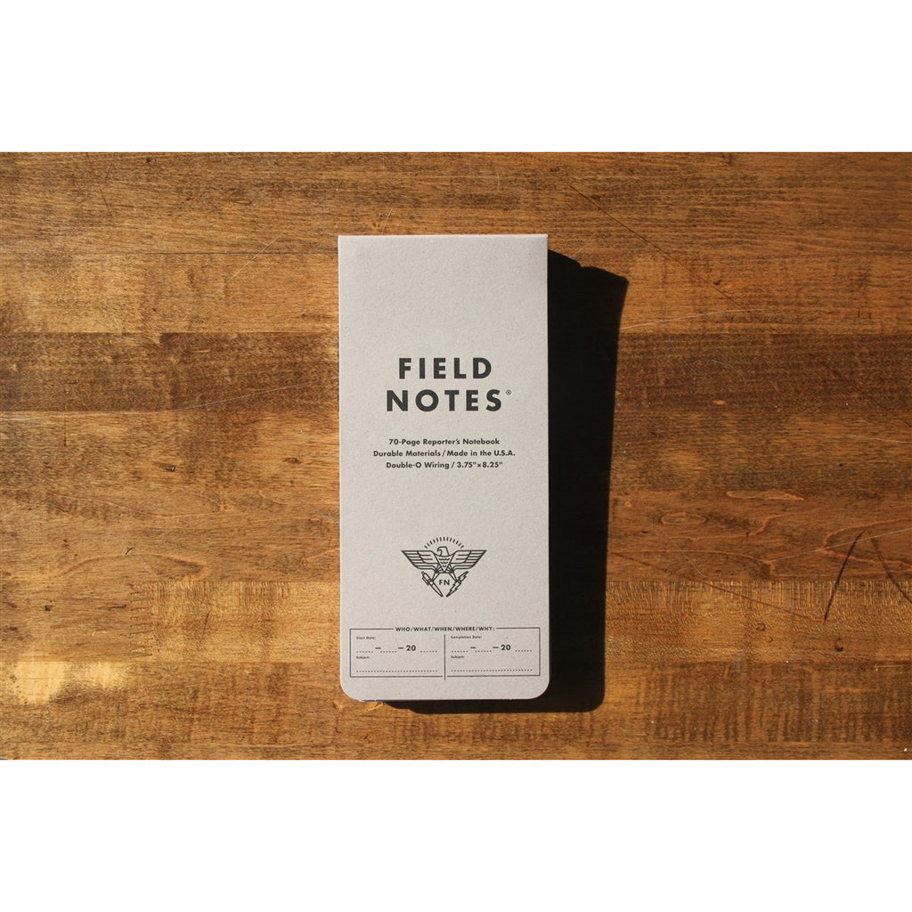 <center>Field Notes - Front Page</center>