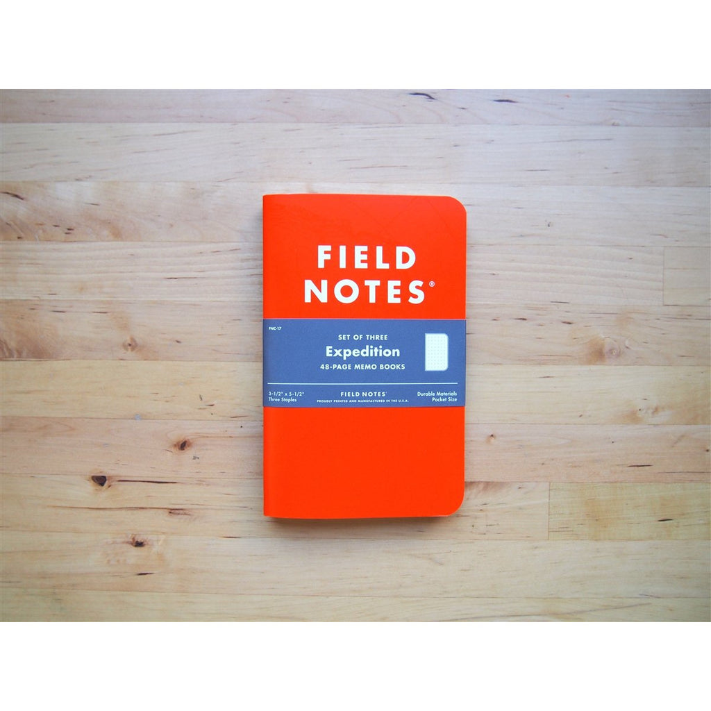 <center>Field Notes Expedition Edition 3-Pack - Dot</center>