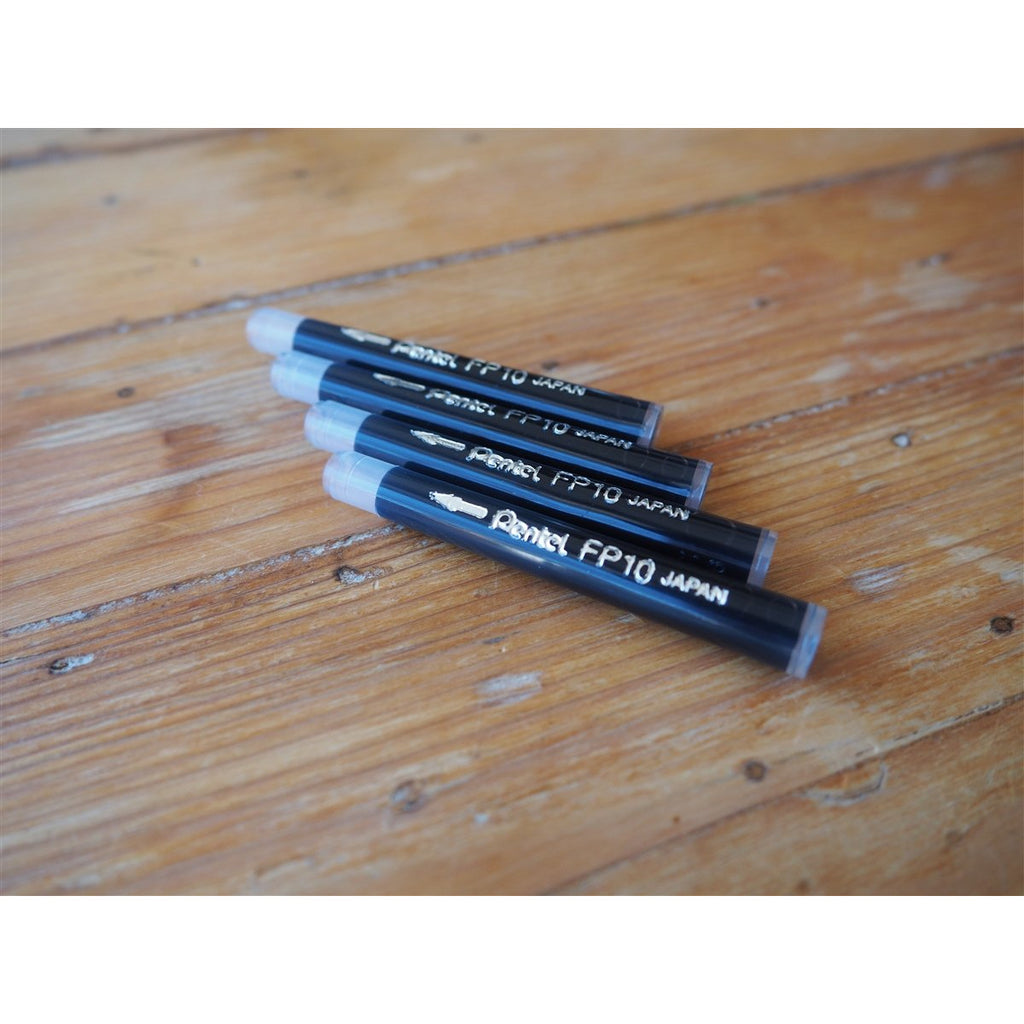<center>Pentel Brush Pen Cartridge - Black (4pk)</center>