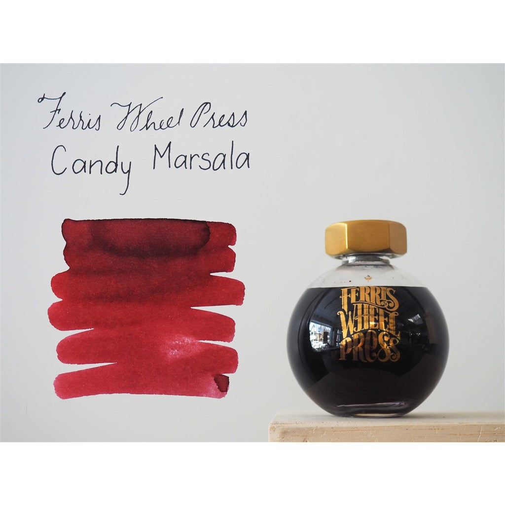 <center>Ferris Wheel Press Fountain Pen Ink - Candy Marsala 85mL</center>