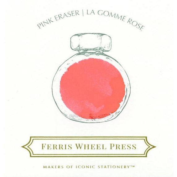 <center>Ferris Wheel Press Fountain Pen Ink - Pink Eraser 85mL</center>