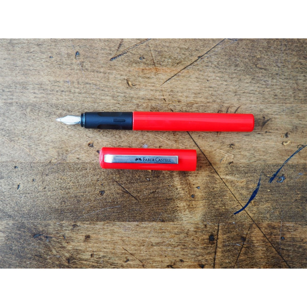 <center>Faber-Castell School Fountain Pen - Red</center>