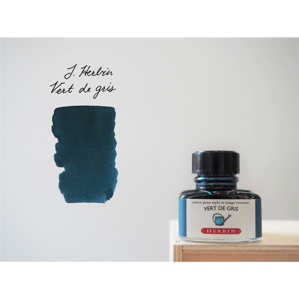 <center>J. Herbin Fountain Pen Ink (30mL) - Vert De Gris</center>