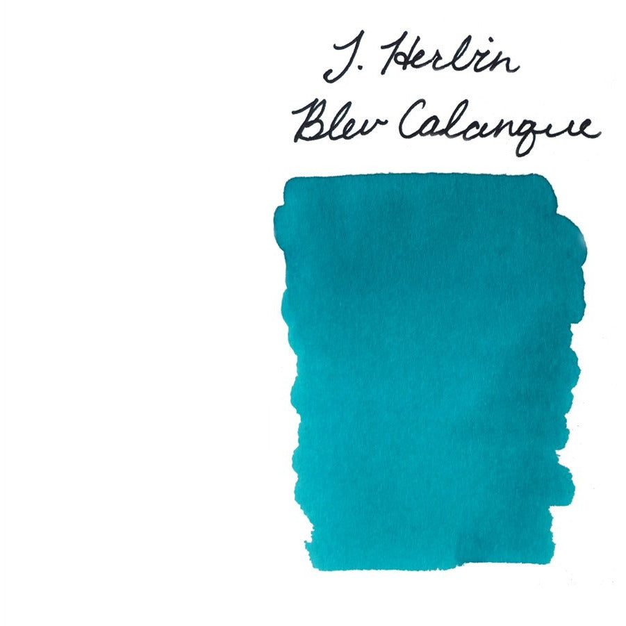 <center>J. Herbin Fountain Pen Ink (30mL) - Bleu Calanque</center>