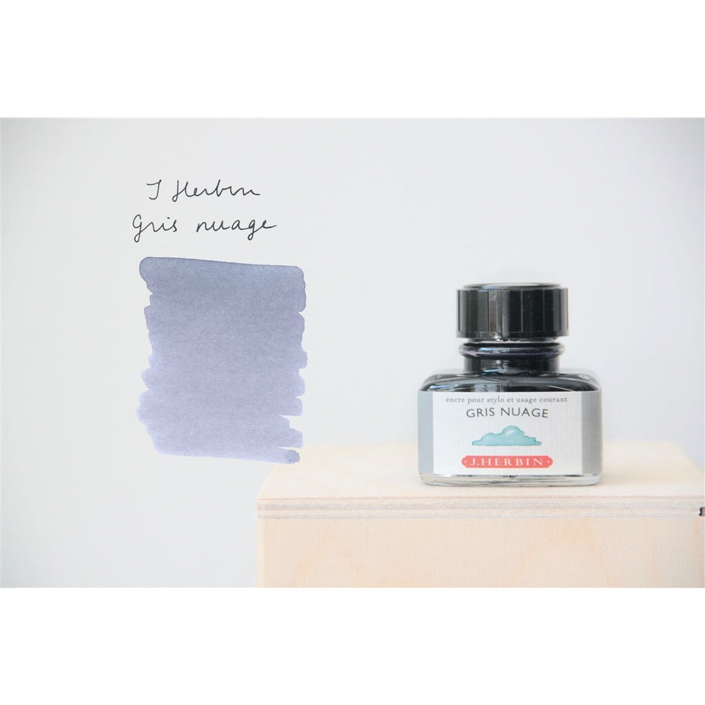 <center>J. Herbin Fountain Pen Ink (30mL) - Gris Nuage</center>