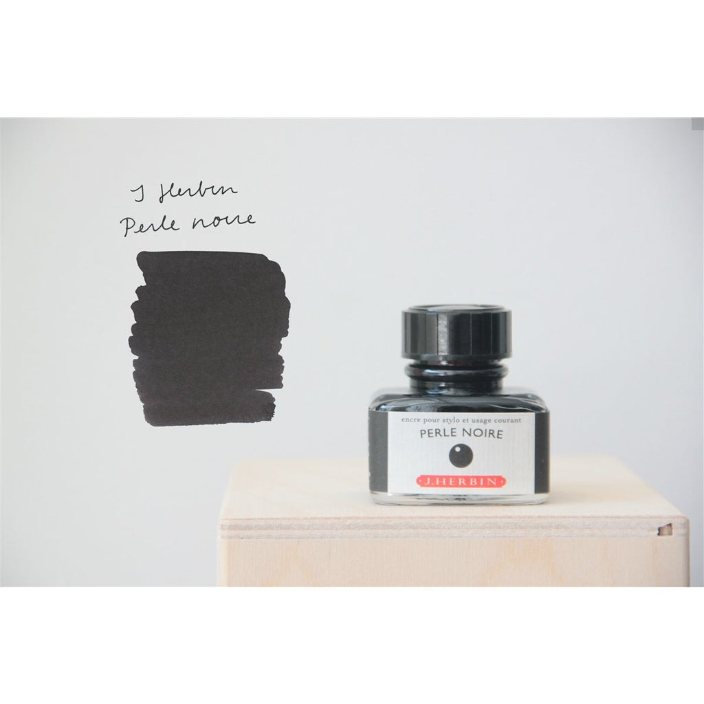 <center>J. Herbin Fountain Pen Ink (30mL) - Perle Noire</center>