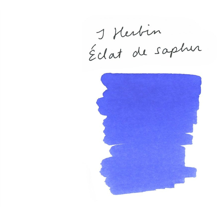 <center>J. Herbin Fountain Pen Ink (30mL) - Eclat de Saphir</center>