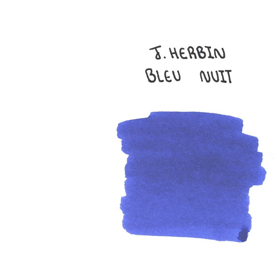 <center>J. Herbin Fountain Pen Ink (30mL) - Bleu Nuit</center>