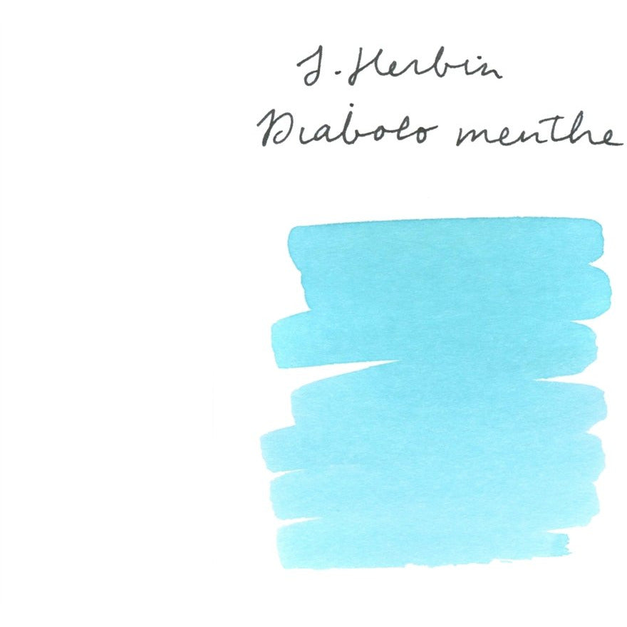 <center>J. Herbin Fountain Pen Ink (30mL) - Diabolo Menthe</center>